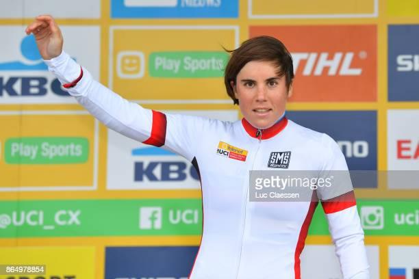 WC Koksijde 2017 / Women Podium / Sanne CANT White UCI Leader Jersey / Celebration / Women / World Cup /