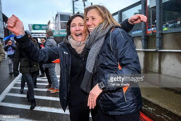 World Championships 2016 / Men Elite / Yvonne Van Aert / Mere moeder mother / Celebration Joie Vreugde / Wereldkampioenschap / Tim De Waele