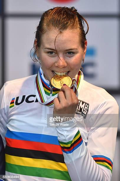 World Championships 2016 / Women Elite / Podium / DE JONG Thalita Medaille Medal / Celebration Joie Vreugde / Wereldkampioenschap / Tim De Waele