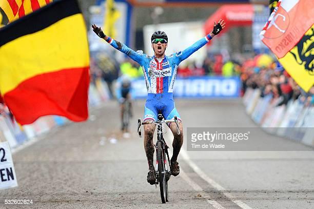 World Championships Hoogerheide 2014 / Men Elite / Arrival STYBAR Zdenek / Celebration Joie Vreugde / Championnat du Monde / Wereldkampioenschap /...