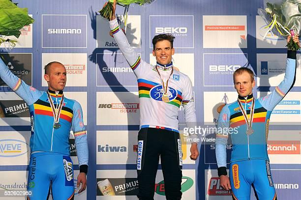 World Championships Hoogerheide 2014 / Men Elite / Podium / NYS Sven / STYBAR Zdenek / Kevin PAUWELS / Celebration Joie Vreugde / Championnat du...