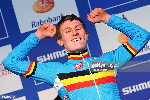 World Championships Hoogerheide 2014 / Men Juniors / Podium / AERTS Thijs Celebration Joie Vreugde / Championnat du Monde / Wereldkampioenschap / Tim...