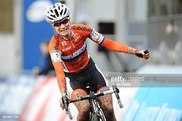World Championships Hoogerheide 2014 / Women Elite / Arrival / Marianne VOS / Celebration Joie Vreugde / Championnat du Monde / Wereldkampioenschap /...
