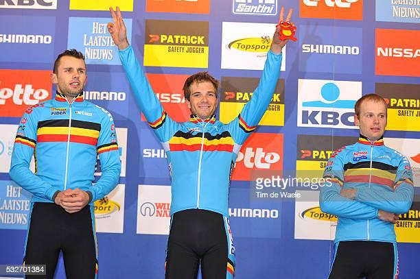 World Championships Koksijde 2012 / Men Elite Podium / Rob PEETERS / Niels ALBERT / Kevin PAUWELS / Celebration Joie Vreugde WC / Hommes Mannen /...