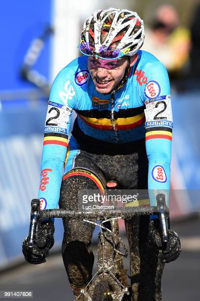 World Championships Tabor 2015 Under 23 /Arrival Michael Vanthourenhout Championnat Du Monde Wereldkampioenschap Tim De Waele