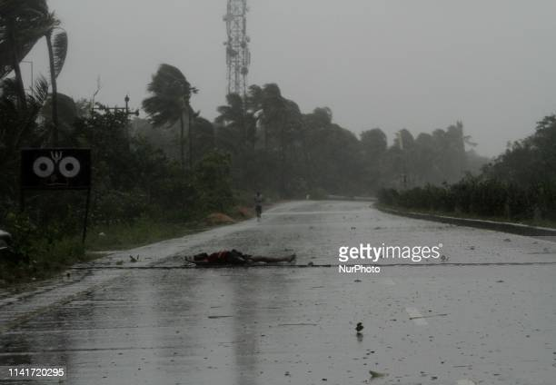 Cyclone Fani landfall on the Bay of Bengal Sea's eastern coast beach at Puri on the wind speed of above 200km per hour 65 km away from the eastern...