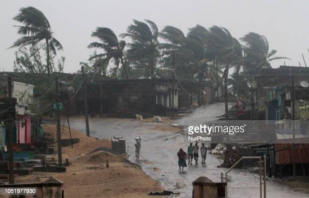 Cyclone 'Titliquot land fall at the Bay of Bengal Sea's eastern coast near Gopalpur in Ganjam district 180 km away from the eastern Indian state...