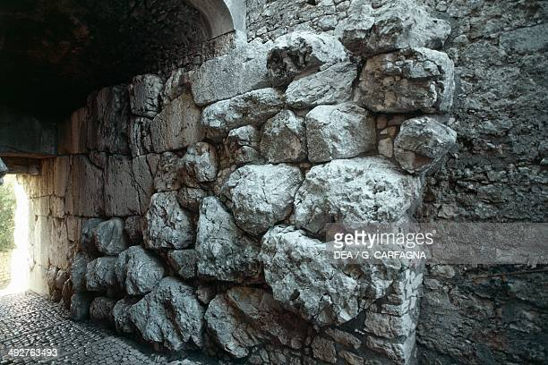 Cyclopean walls of the Acropolis of Alatri, 6th century BC, Lazio, Italy.