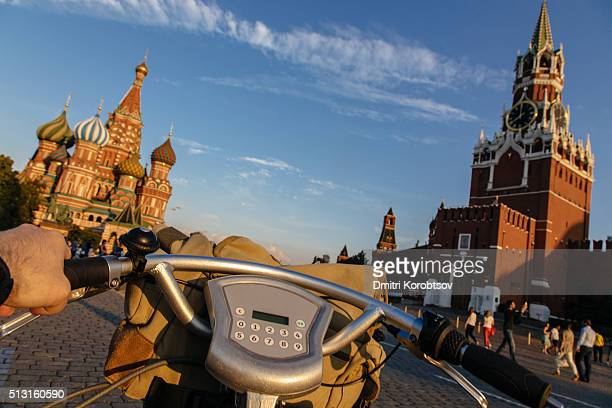 POV: Cyclyng on the Red Square in Moscow