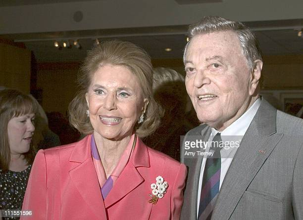 Cyd Charisse and Tony Martin during A Centennial Tribute to Harold Arlen at Academy of Motion Picture Arts and Sciences in Beverly Hills California...
