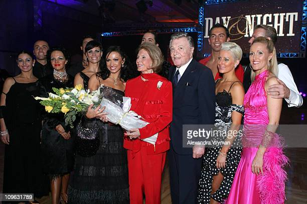 Cyd Charisse Tony Martin and dancers during Day Night Party Inside at Hollywood and Highland in Hollywood California United States