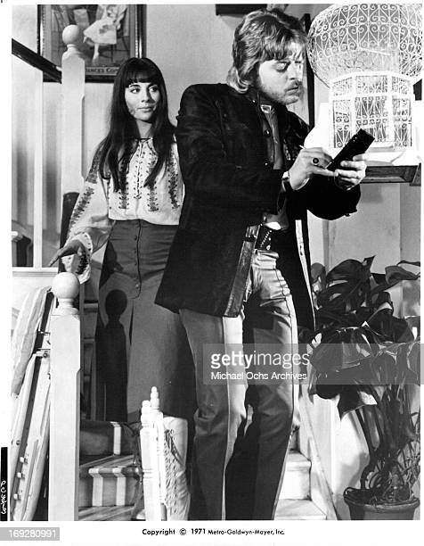 Cyd Hayman and Hywel Bennett in a scene from the film 'Percy' 1971 Photo by MetroGoldwynMayer/Getty Images