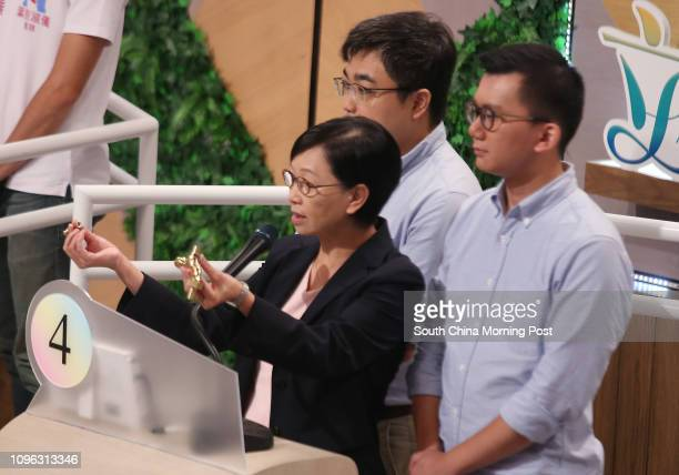 Cyd Ho Saulan Mak Takching and Cheng Szelut attend Videotaping of RTHK LegCo Election forum at RTHK in Kowloon Tong 13AUG16 SCMP / David Wong