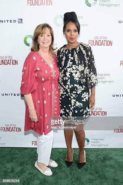 Cyd Wilson Executive Director SAGAFTRA Foundation and actress Kerry Washington Actors Inspiration Award Recipient arrives at SAGAFTRA Foundation 7th...