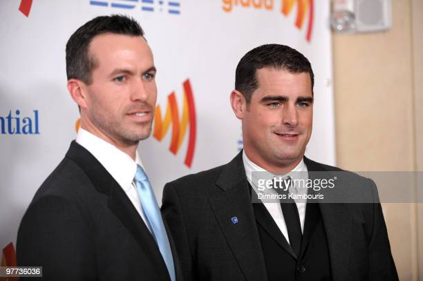 Cyd Zeigler and Brian Sims attend the 21st Annual GLAAD Media Awards at The New York Marriott Marquis on March 13 2010 in New York New York