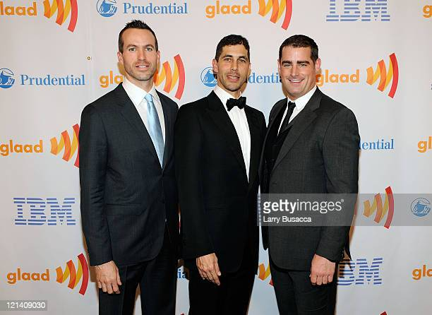 Cyd Zeigler President of GLAAD Jarrett Barrios and Brian Sims attend the 21st Annual GLAAD Media Awards at The New York Marriott Marquis on March 13...