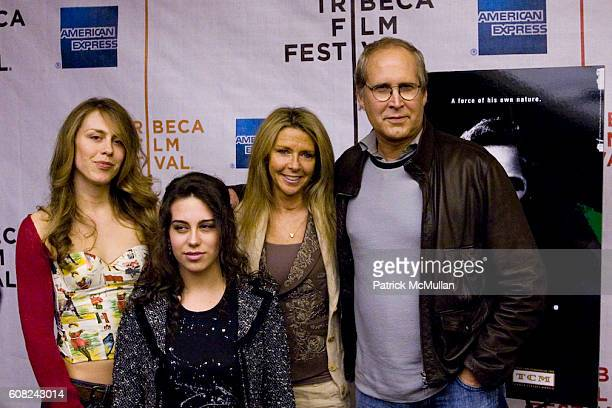 Cydney Chase Caley Chase Jayni Chase and Chevy Chase attend Tribeca Film Festival Premeire of Brando at Pace University's Schimmel Center for the...