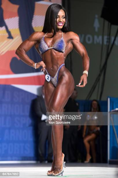 Cydney Gillon competes in Figure International as part of the Arnold Sports Festival on March 3 at the Greater Columbus Convention Center in Columbus...