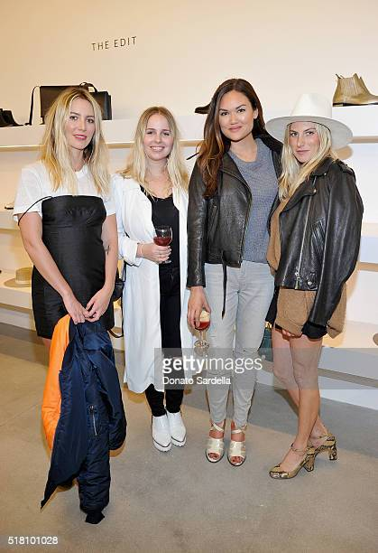 Cydney Morris Amanda Thomas Christy Baird and Dallas Wand attend The Edit by FREDA SALVADOR Janessa Leone opening party at Platform on March 29 2016...