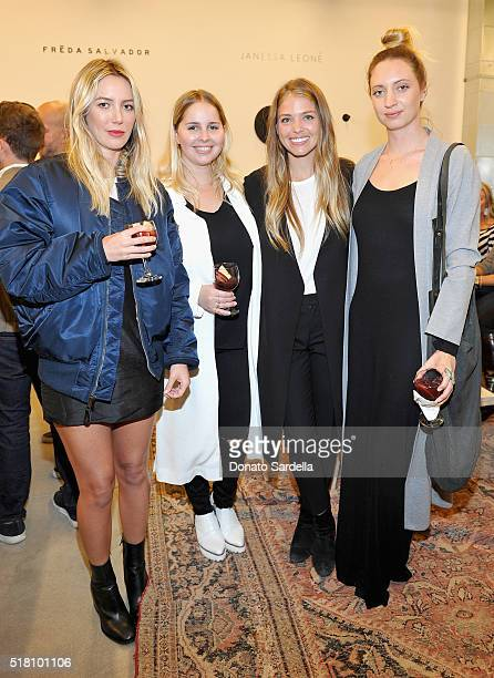 Cydney Morris Amanda Thomas designer Janessa Leone and Amber Kekich attend The Edit by FREDA SALVADOR Janessa Leone opening party at Platform on...