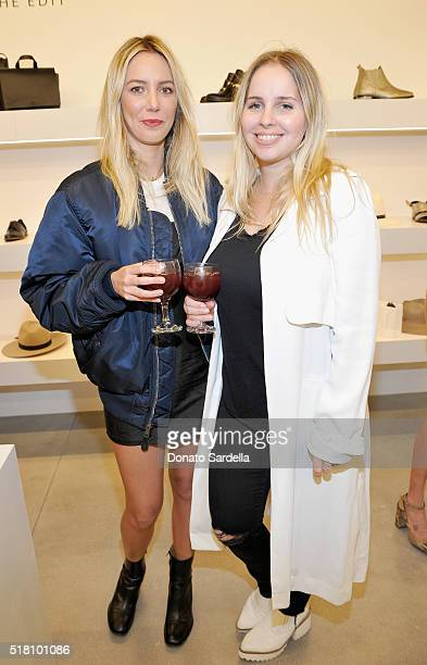 Cydney Morris and Amanda Thomas attend The Edit by FREDA SALVADOR Janessa Leone opening party at Platform on March 29 2016 in Culver City California