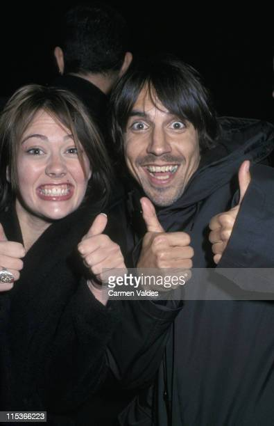 Cydrey Celeste and Anthony Kiedis during MercedesBenz Fashion Week Sean John Men's Fall 2002 Collection at Cipriani in New York City New Yorl United...