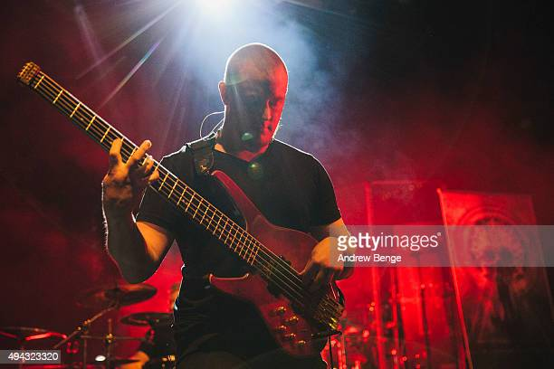 Cygnus of Ne Obliviscaris performs on stage at KOKO on October 23 2015 in London England
