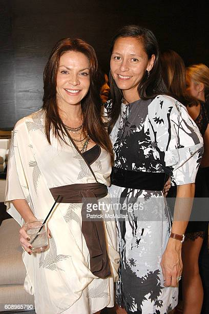 Cyia Batten and Marlein Rentmeester attend Allegra Hicks and Divine Design Trunk Show to support Project Angel Food's Divine Design 2007 at Minotti...
