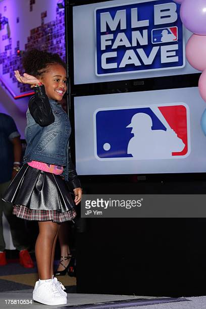 Cyia Sabathia models at the CCandy Children's Clothing Line Launch at MLB Fan Cave on August 8 2013 in New York City
