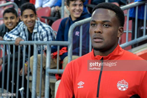 Cyle Larin before the CanadaJamaica Mens International Friendly match at BMO Field in Toronto Canada on 2 September 2017