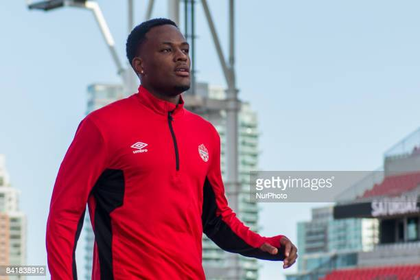Cyle Larin during open training session conference in Toronto before the CanadaJamaica Mens International Friendly match at BMO Field in Toronto...