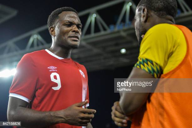 Cyle Larin during the CanadaJamaica Mens International Friendly match at BMO Field in Toronto Canada on 2 September 2017