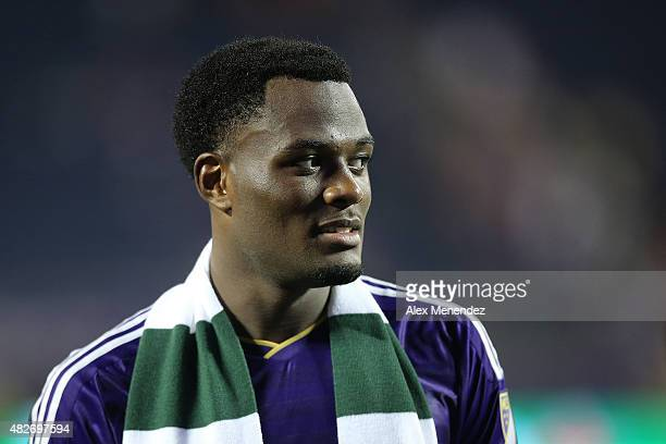 Cyle Larin of Orlando City SC is seen after a MLS soccer match between the Columbus Crew SC and the Orlando City SC at the Orlando Citrus Bowl on...