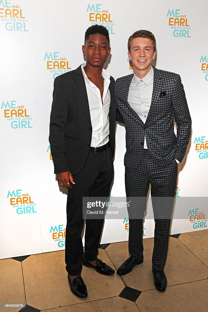 RJ Cyler (L) and Thomas Mann attend the UK Premiere of 'Me And Earl And The Dying Girl' during Film4 Summer Screenings at Somerset House on August 19, 2015 in London, England.