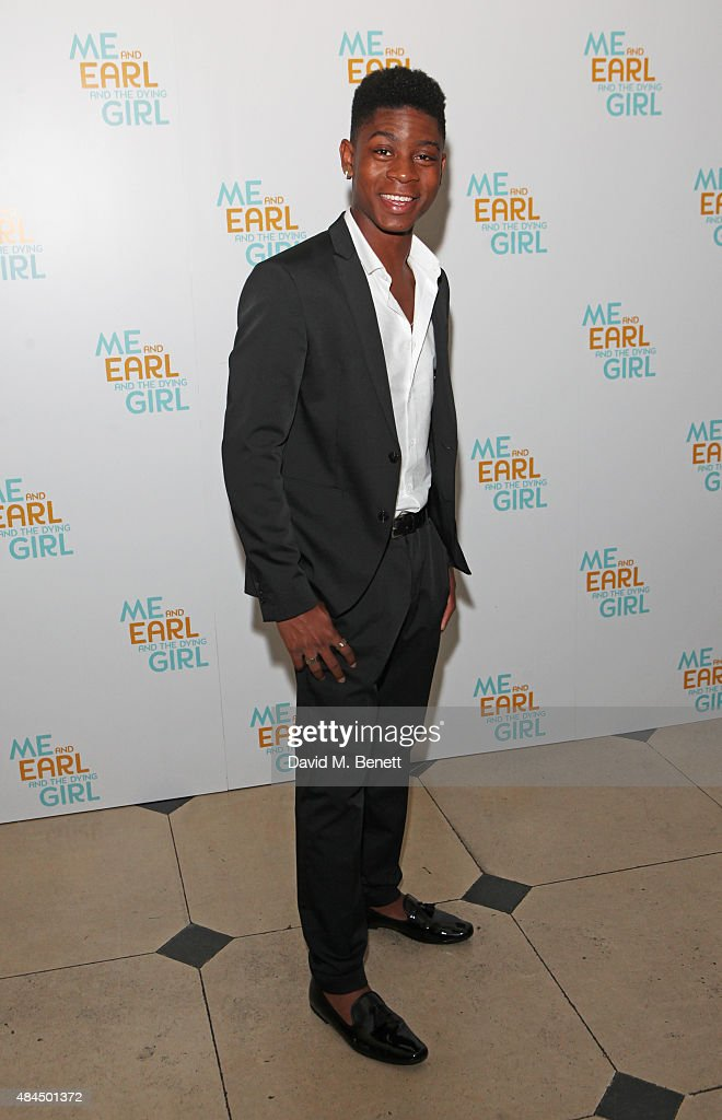 RJ Cyler attends the UK Premiere of 'Me And Earl And The Dying Girl' during Film4 Summer Screenings at Somerset House on August 19, 2015 in London, England.