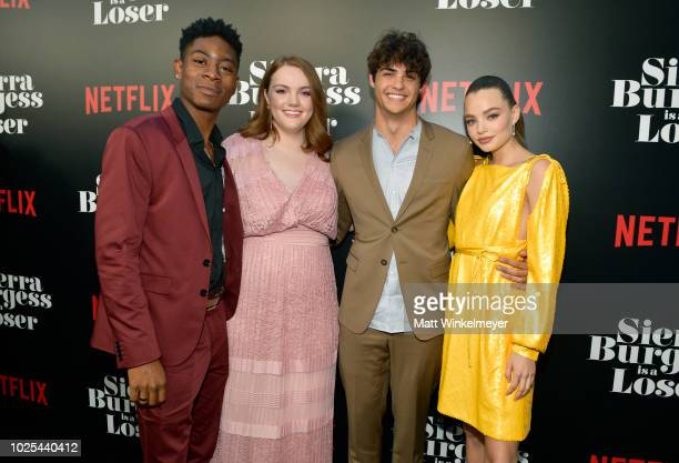 Cyler Shannon Purser Noah Centineo and Kristine Froseth attend the Los Angeles Premiere of the Netflix Film Sierra Burgess is a Loser at Arclight...