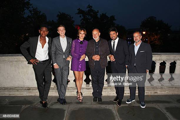 RJ Cyler Thomas Mann Olivia Cooke Brian Eno director Alfonso GomezRejon and producer Jeremy Dawson attend the UK Premiere of 'Me And Earl And The...