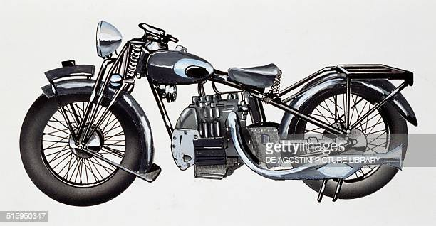 4 cylinder Chaise motorcycle drawing