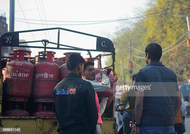 LPG cylinders on January 29 2013 in New Delhi India
