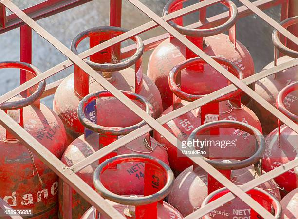 lpg cylinders - cylinder stock pictures, royalty-free photos & images