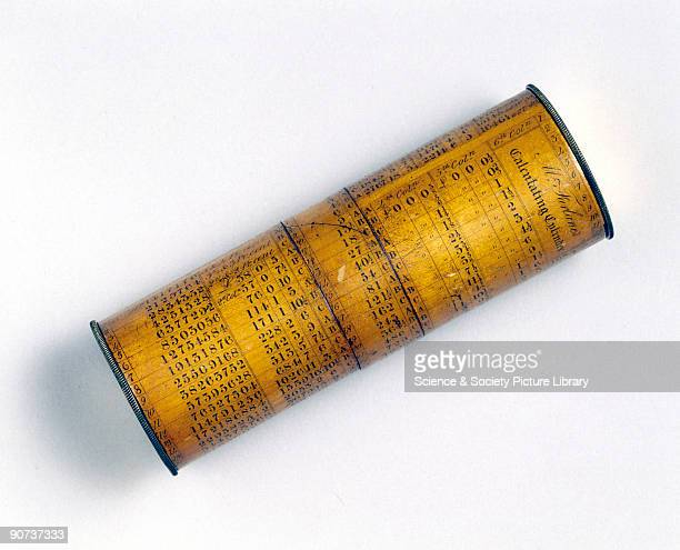 A cylindrical form of slide rule made by McFarlane Cylindrical slide rules like circular versions of the instrument were designed to get greater...