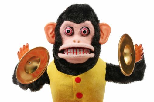 Cymbal Playing Monkey 172919894