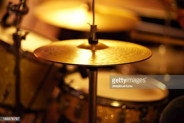 Cymbals, Hi hat, Snare Drum, on stage