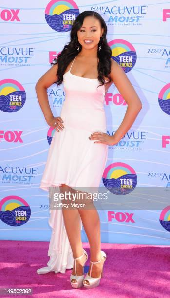 Cymphonique Miller arrives at the 2012 Teen Choice Awards at Gibson Amphitheatre on July 22, 2012 in Universal City, California.