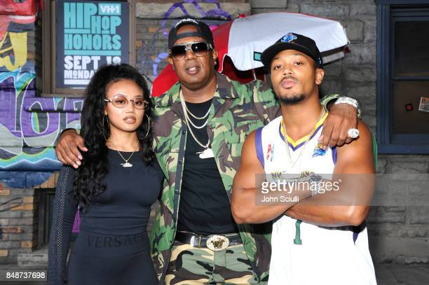 Cymphonique Miller, Master P and Romeo Miller attend VH1 Hip Hop Honors: The 90s Game Changers at Paramount Studios on September 17, 2017 in Los...