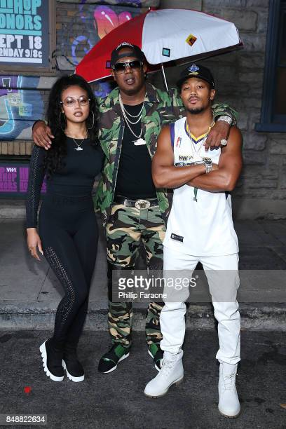 Cymphonique Miller Master P and Romeo Miller attend VH1's Hip Hop Honors The 90's Game Changers at Paramount Studios on September 17 2017 in...
