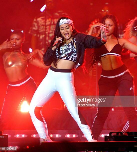 Cymphonique Miller performs during the 2017 ESSENCE Festival Presented by Coca Cola at the MercedesBenz Superdome on July 2 2017 in New Orleans...