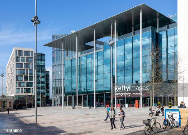 Cymru Wales TV studios headquarters building, Central Square, Cardiff, South Wales, UK opened 2019 designed by Foster and Partners.