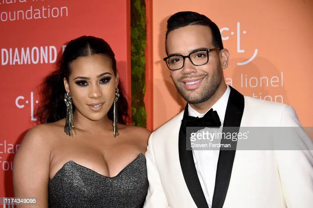 Cyn Santana and Jonathan Fernandez attend Rihanna's 5th Annual Diamond Ball at Cipriani Wall Street on September 12 2019 in New York City