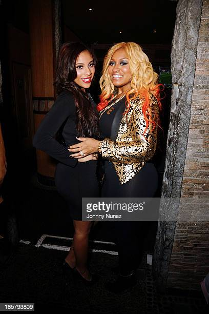Cyn Santana and Rah Ali attend Puss In Boots at AMAZE on October 24 2013 in New York City